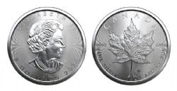 MAPLE LEAVES -  ONE OUNCE FINE SILVER COIN -  2020 CANADIAN COINS