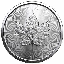 MAPLE LEAVES -  ONE OUNCE FINE SILVER COIN -  2021 CANADIAN COINS
