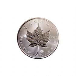 MAPLE LEAVES -  ONE OUNCE FINE SILVER COIN - INCUSE DESIGN -  2019 CANADIAN COINS 02