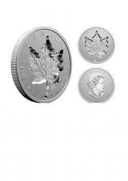 MAPLE LEAVES -  SUPER INCUSE 1-OZ SILVER MAPLE LEAF (SML) -  2021 CANADIAN COINS