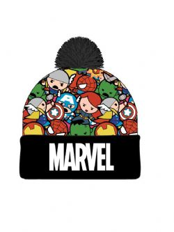 MARVEL -  BEANIE WITH POMPOM - KAWAII CHARACTERS AND LOGO