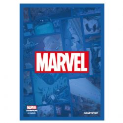 MARVEL CHAMPIONS : THE CARD GAME -  LOGO BLUE SLEEVES (50)