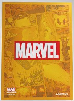MARVEL CHAMPIONS : THE CARD GAME -  LOGO ORANGE SLEEVES (50)