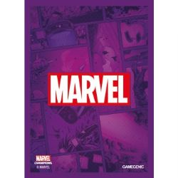 MARVEL CHAMPIONS : THE CARD GAME -  LOGO PURPLE SLEEVES (50)