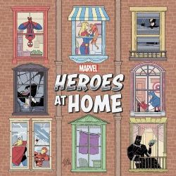 MARVEL HEROES AT HOME