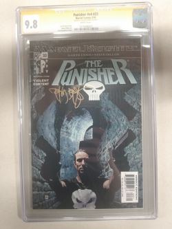 MARVEL KNIGHTS -  THE PUNISHER #23 V4 SIGNED BY TIM BRADSTREET - CGC 9.8
