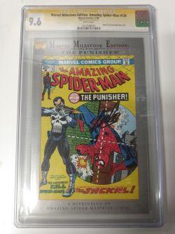 MARVEL -  MARVEL MILESTONE EDITION : AMAZING SPIDER-MAN #129 (REPRINT) SIGNED BY STAN LEE (11/92) - CGC 9.6