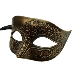 MASQUERADE MASK -  ARTORIUS EYE MASK - GOLD