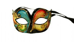 MASQUERADE MASK -  EUPHORIA EYE MASK - BLACK/YELLOW