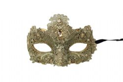MASQUERADE MASK -  MASK WITH GEMS - GOLD