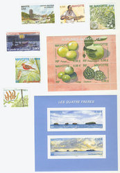 MAYOTTE -  2009 COMPLETE YEAR SET, NEW STAMPS
