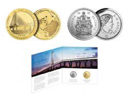 MEDAILLONS -  SPECIAL EDITION UNCIRULATED SET: SAMUEL DE CHAMPLAIN BRIDGE -  2019 CANADA COINS
