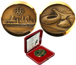 MEDALLIONS -  OFFICIAL 1976 MONTREAL OLYMPIC GAMES MEDALLION -  1976 CANADIAN COINS