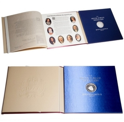 MEDALLIONS -  THE MEDALLION FOLIO OF THE SILVER JUBILEE OF QUEEN ELIZABETH II -  1977 GREAT BRITAIN COINS
