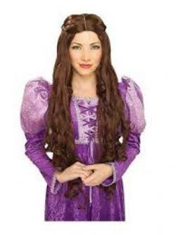 MEDIÉVAL -  QUEEN GUINEVERE WIG - BROWN (ADULT)
