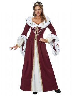 MEDIEVAL -  ROYAL STORYBOOK QUEEN COSTUME (ADULT)