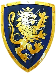 MEDIEVAL -  SHIELD - NOBLE KNIGHT - BLUE (18