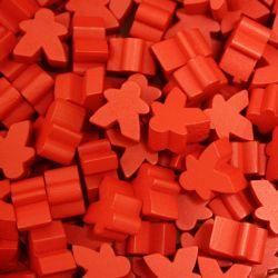 MEEPLE 25-PACK -  RED
