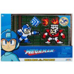 MEGA MAN -  MEGA MAN VS FIRE MAN 8-BIT FIGURE (3.1INCHES)