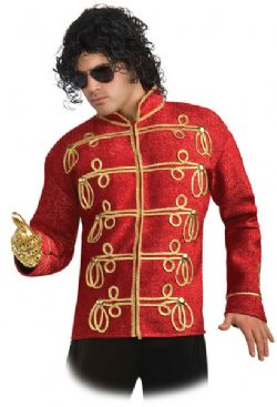 MICHAEL JACKSON -  MILITARY JACKET - RED (ADULT)