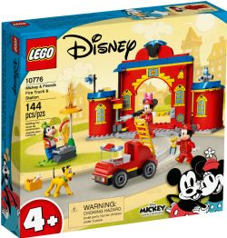 MICKEY AND FRIENDS -  FIRE TRUCK AND STATION (144 PIECES) 10776