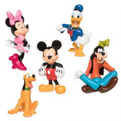 MICKEY AND FRIENDS -  MICKET ET SES AMISL 5-PIECE PLASTIC FIGURINE SET - MICKEY MOUSE CLUBHOUSE