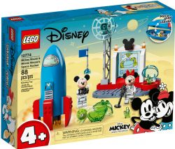 MICKEY AND FRIENDS -  MICKEY MOUSE AND MINNIE MOUSE'S SPACE ROCKET (88 PIECES) 10774