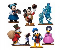MICKEY AND FRIENDS -  MICKEY'S CHRISTMAS CAROL 6-PIECE PLASTIC FIGURINE SET - MICKEY MOUSE CLUBHOUSE