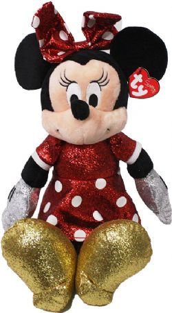 MICKEY AND FRIENDS -  SPARKLING RED DRESS MINNIE PLUSH (14