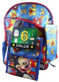 MICKEY MOUSE -  6 PIECES MICKEY MOUSE BACKPACK