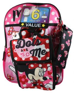 MICKEY MOUSE -  6 PIECES MINNIE MOUSE BACKPACK