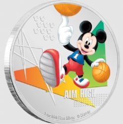 MICKEY MOUSE SPORTS -  AIM HIGH (BASKETBALL) -  2020 NEW ZEALAND MINT COINS 04