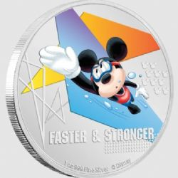 MICKEY MOUSE SPORTS -  FASTER & STRONGER (SWIMMING) -  2020 NEW ZEALAND MINT COINS 02