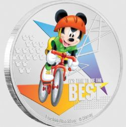 MICKEY MOUSE SPORTS -  IT'S TIME TO BE THE BEST (CYCLING) -  2020 NEW ZEALAND MINT COINS 03