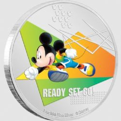 MICKEY MOUSE SPORTS -  READY SET GO! (RUNNING) -  2020 NEW ZEALAND MINT COINS 01