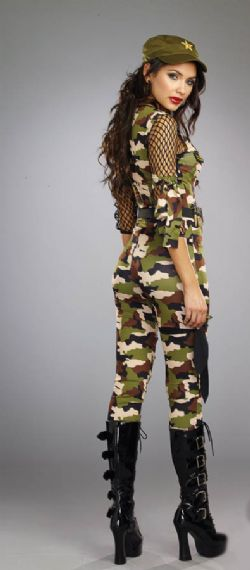 MILITARY -  ARMY WOMAN COSTUME