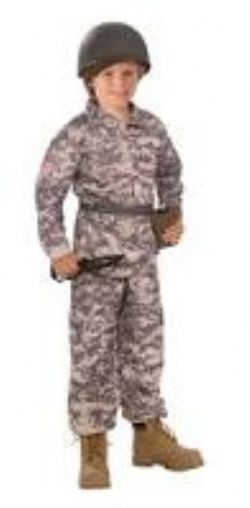 MILITARY -  DESERT SOLDIER COSTUME (CHILD - MEDIUM 8-10)