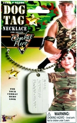 MILITARY -  DOG TAG NECKLACE