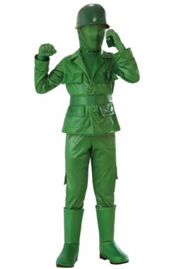 MILITARY -  GREEN ARMY BOY COSTUME (CHILD) -  OPUS COLLECTION