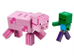 MINECRAFT -  BIGFIG PIG WITH BABY ZOMBIE (159 PIECES) 21157