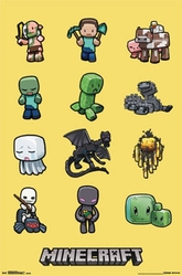 MINECRAFT -  CHARACTERS POSTER (22