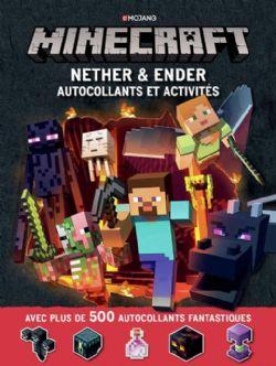 MINECRAFT -  NETHER & ENDER . AUTOCOLLANTS ET ACTIVITÉS (500+ AUTOCOLLANTS)