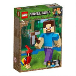 MINECRAFT -  STEVE BIGFIG WITH PARROT (159 PIECES) 21148