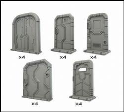 MINIATURE DECOR -  STARSHIP DOORS -  TERRAIN CRATE
