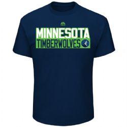MINNESOTA TIMBERWOLVES -  KARL-ANTHONY TOWNS #32 T-SHIRT - BLUE