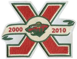 MINNESOTA WILD -  10TH ANNIVERSARY PATCH
