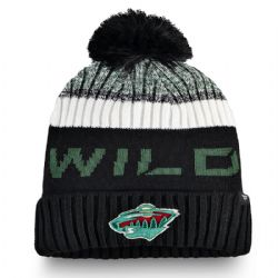 MINNESOTA WILD -  BEANIE WITH POMPOM - BLACK