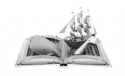 MISCELLANEOUS -  MOBY DICK BOOK SCULPTURE - 2 SHEETS