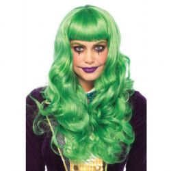 MISFIT LONG WAVY BANG WIG - GREEN