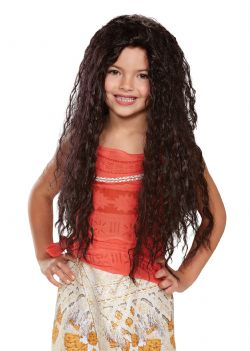 MOANA -  MOANA DELUXE WIG - BROWN (CHILD)